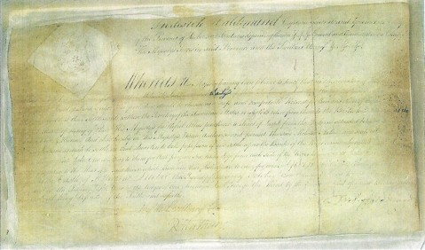 Haldimand Proclamation of 1784  (Original Copy Held by the Mohawk Workers)