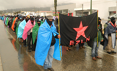 40,000 Zapatistas Mobilise - Silent Marchs at 5 Cities in Mexico - Dec 21