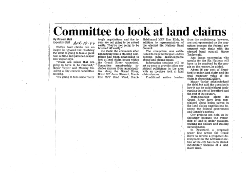COMMITTEE - land claims brantford april 19 1994 brantford expositor 250 billion