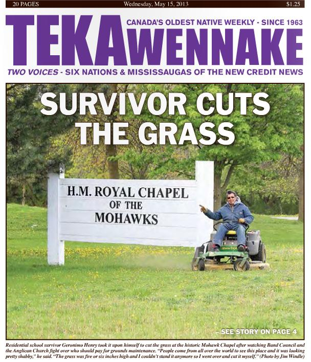 2013 May 15 - teka news - Survivor cuts the grass