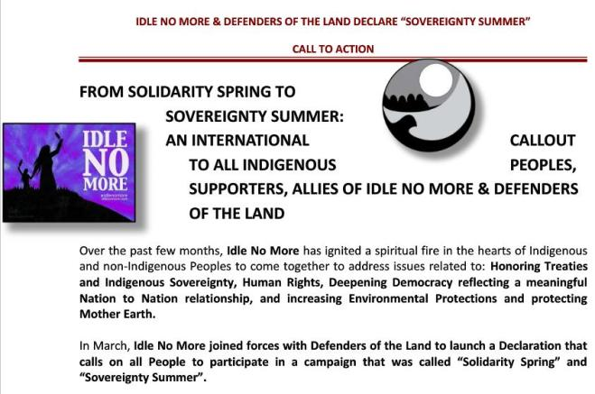 May 20 IdleNoMore  Call to Action