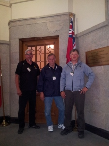 Ellis Hill, Bill Squire and Frank Smith - Mohawk Workers' Delegation to Ottawa Centre Block - Parliament Building
