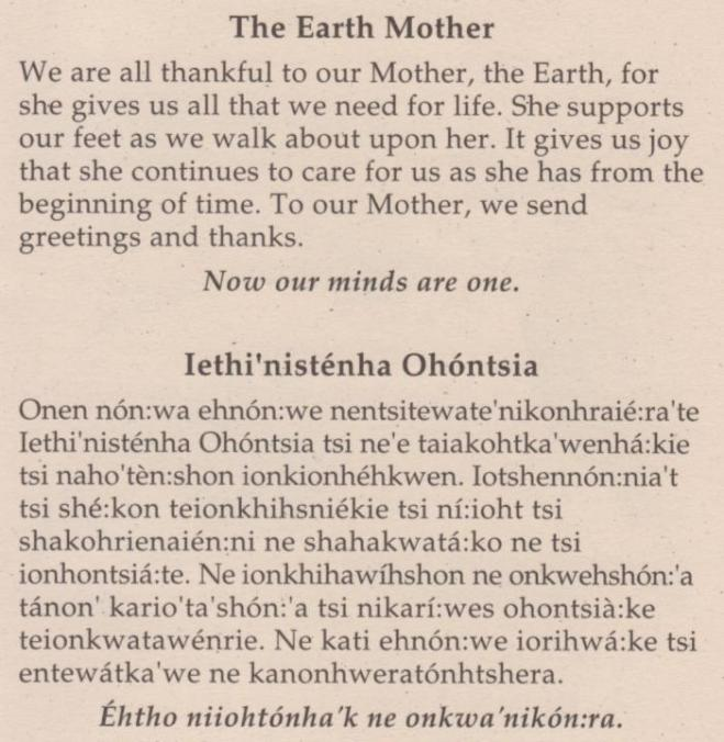 Thanksgiving - The Earth Mother
